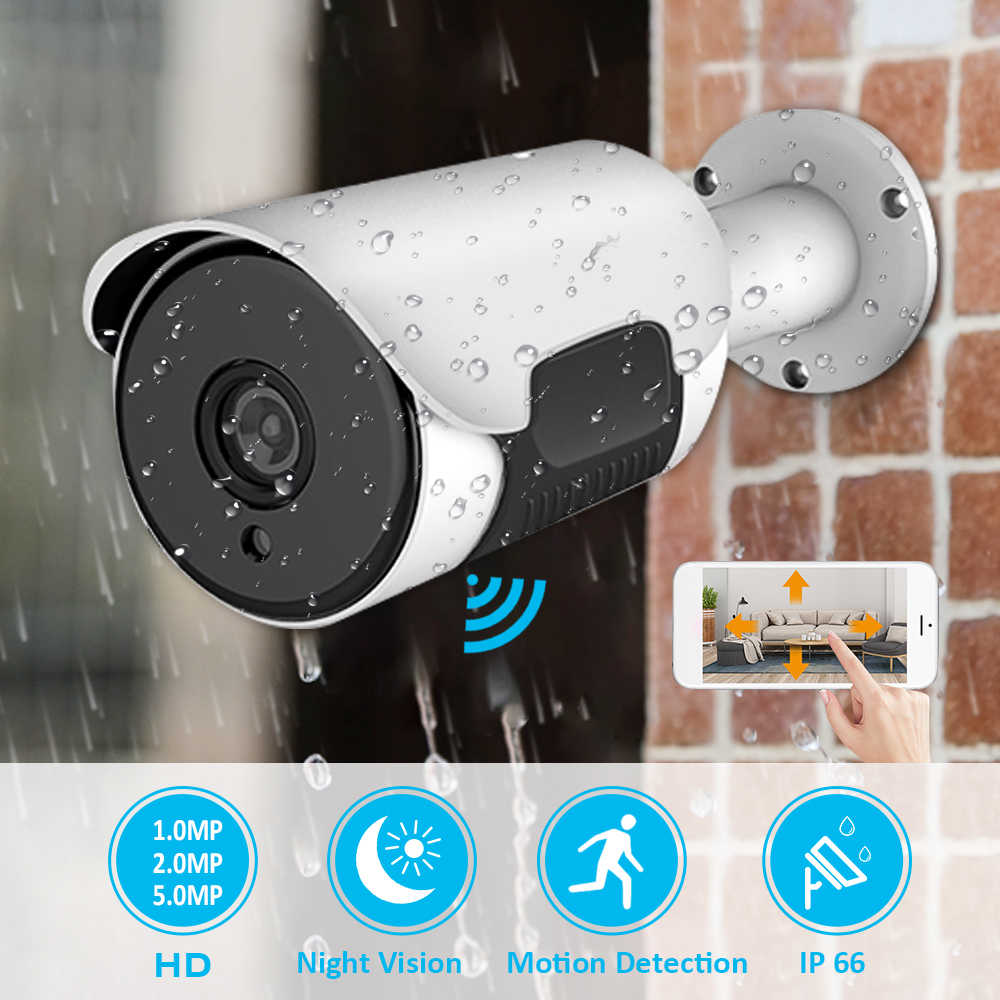 H.265 1080P POE IP Camera 1MP/2MP/5MP Outdoor Waterdichte Home Security Camera 38pcs Lamp Kraal nachtzicht POE NVR Systeem
