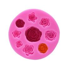 1 шт. роза цветы в форме помадки силиконовые формы ремесло набор для выпечки с шоколадом формы торт кухонные Инструменты для декорирования инструмент для мучных изделий и кексов