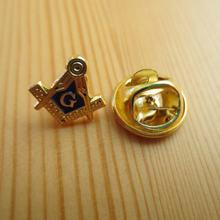 Классический масонская Брошь булавка Золотая для воротника в