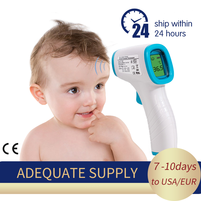 Baby Thermometer Infrared Digital LCD Body Measurement Forehead Ear Non-Contact Adult Body Fever IR Children