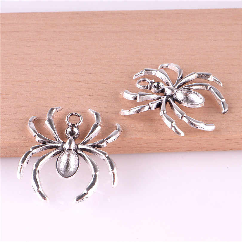 20pcs Halloween Charms Gothic Spider Charms Pendant Craft Supplies Pendants For DIY Craft Making Antique Silver 23290