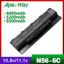 5200mAh laptop battery for Asus N76 N76V N76VB N76VJ N76VM N76VZ R401 R401J R401JV R401V R401VB R401VJ R401VM R401VZ R501 R501D