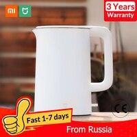 Xiaomi Mijia Elektrische Wasserkocher Tee Topf 1 5 L Auto Power off Schutz Küche Wasser Kessel Teekanne Instant Heizung Edelstahl stahl-in Elektroschloss aus Haushaltsgeräte bei