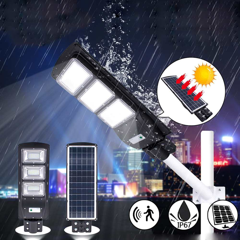 Outdoor 90W Solar LED Street Light Lamps Light Radar+PIR Motion Sensor Waterproof IP67 Wall Lamp Landscape Garden Light 180 Leds