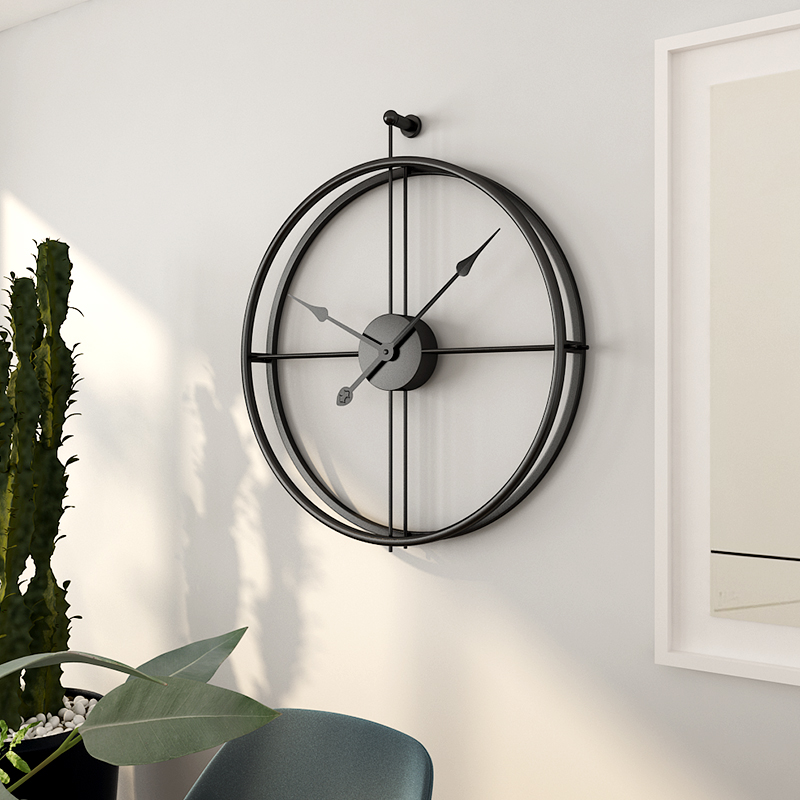 Iron Wall Clock Home Decoration Office Large Wall Clocks Modern Design Mounted Mute Watch European decorative Hanging Watches 2