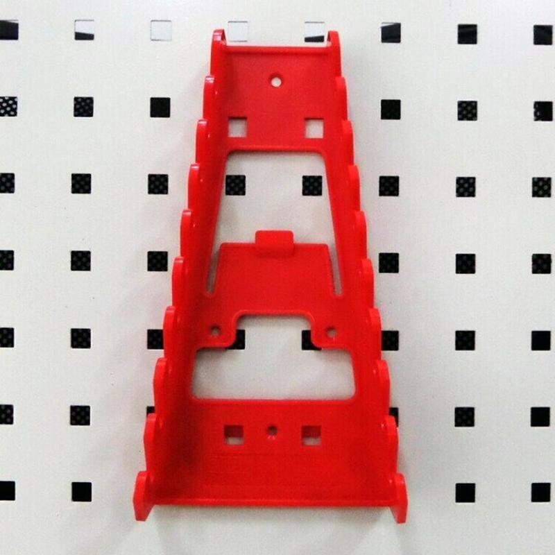 Llave inglesa herramienta organizador clasificador soporte montado en la pared herramienta bandeja de almacenamiento zócalo bastidor de almacenamiento de plástico organizador de herramientas