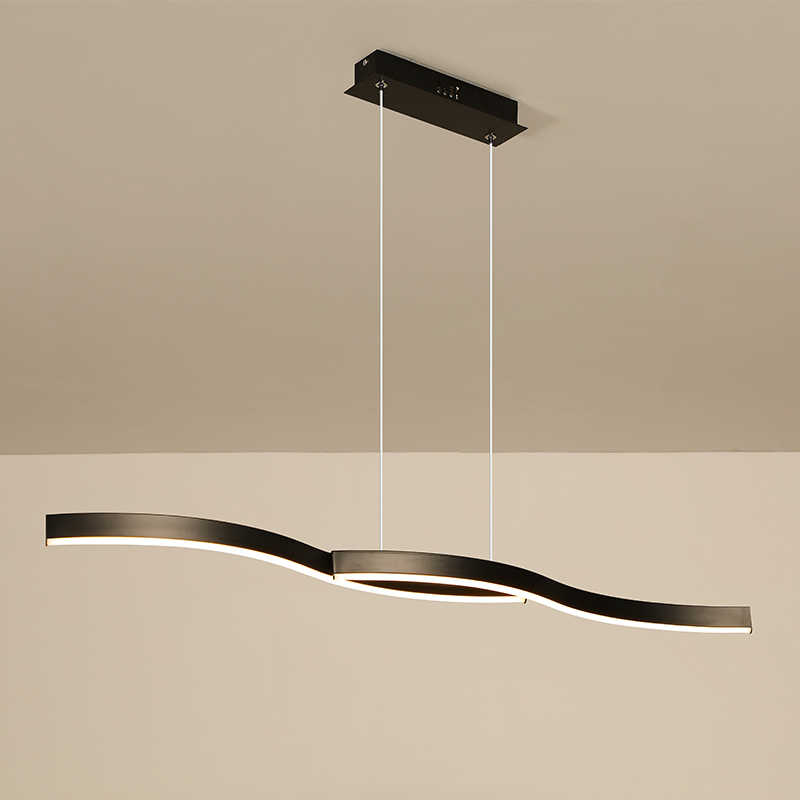 Minimalism modern led pendant lights for dining room kitchen black/white aluminum Pendant lamp suspension luminaire lustre led