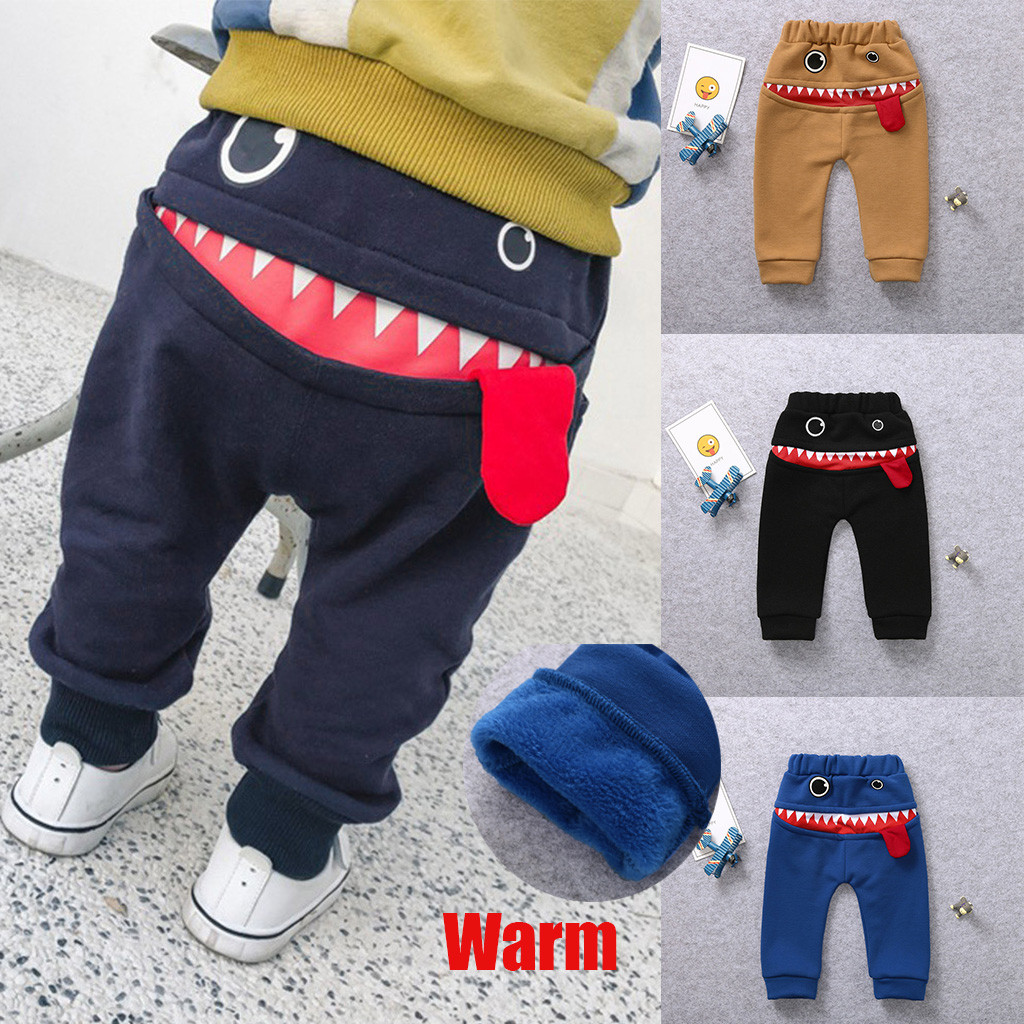 Children Kids Baby Boys Girls Cartoon Bird Tongue Harem Pants Trousers Pants