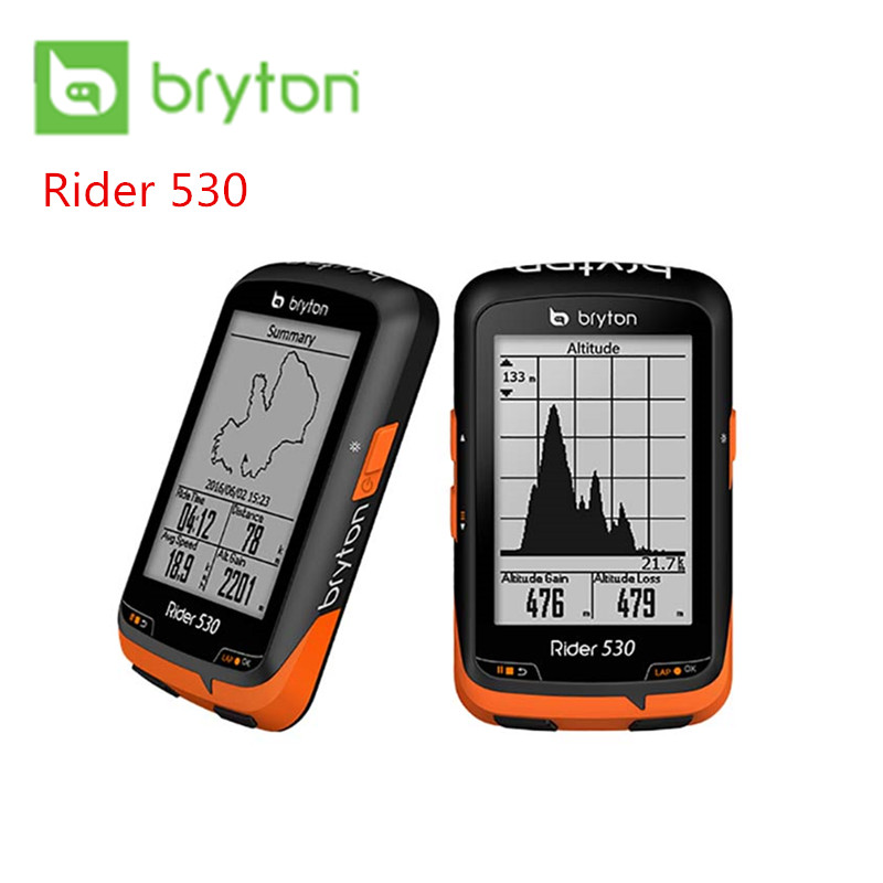 <font><b>Bryton</b></font> Rider 530 530T <font><b>GPS</b></font> Bicycle <font><b>Bike</b></font> Cycling Computer & Extension Mount ANT+ Speed Cadence Dual Sensor Heart Rate Monitor R530 image