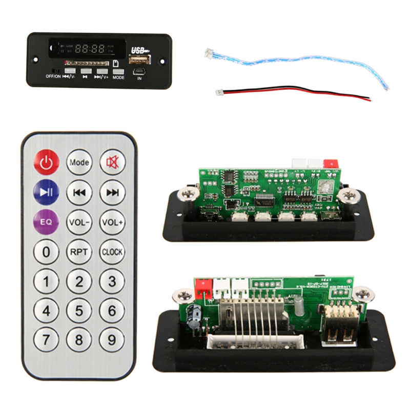 EDAL Useful Wireless MP3 Player Decoder Board Audio Module USB TF Radio For Car Red Digital LED With Remote Controller New
