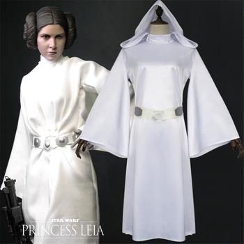 2019 Star Wars Episodes IV-VI Costumes Alderaan princess Leia Organa Solo Cosplay Leia Organa Solo White dress Halloween costume tanie i dobre opinie FMZXG Suknie Film i TELEWIZJA WOMEN Zestawy Other Poliester Kostiumy