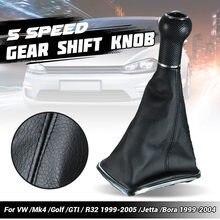5 velocidade do carro alavanca shifter shifter shifter shifter shifter botão de mudança de engrenagem capa de bota para vw golf jetta mk4 bora gti r32 1999-2005