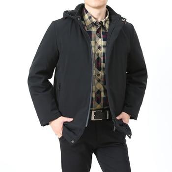 men's hooded fur jacket windbreaker waterproof coat outdoor wear climbing fishing sportswear winter clothing