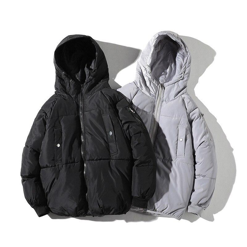 Pure décontracté à capuche hommes Parka épaissir Streetwear hommes hiver manteau mode Hip Hop Outwear pardessus Hombre Invierno YT50197