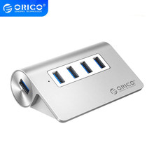 ORICO USB 3,0 Hub 4 Ports Aluminium Externe Usb OTG Hub Tragbare Schreibtisch Splitter PC Laptop Computer Zubehör Port Expander