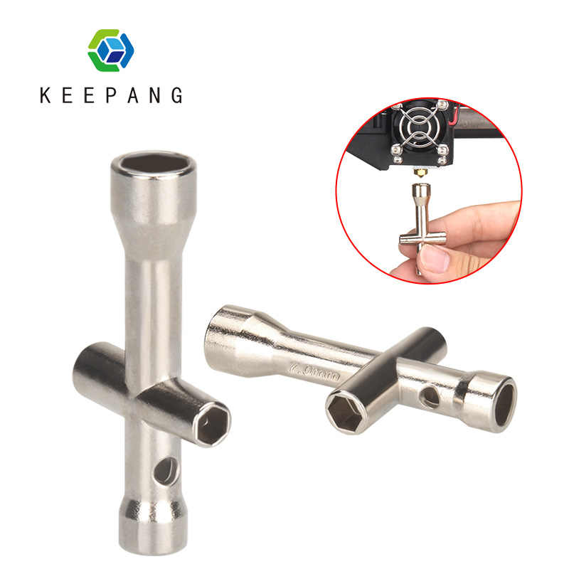 Keepang E3D Nozzle Mini Spanner M2 M2.5 M3 M4 Moer Hexagonal Cross Wrench Mouwen Socket Onderhoud Model Auto Wiel tool