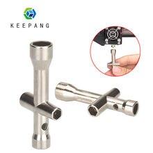 KeePang E3D dysza Mini klucz M2 M2.5 M3 M4 nakrętka śruby sześciokątny klucz krzyżowy rękaw gniazdo konserwacja Model koło samochodowe narzędzie