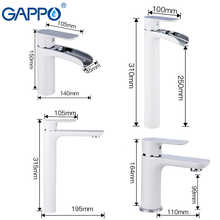 GAPPO Basin Faucet white chrome waterfall tap washbasin bath faucets brass basin mixer bathroom sink faucet water tap mixer