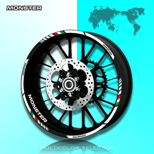 12 X Thick Edge Outer Rim Sticker Stripe Wheel Decals FIT all DUCATI MONSTER 695 696 796 1100 1100S 797 821 795(China)