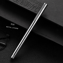 HongDian Metal Stainless Steel Fountain Pen Fine Nib 0.4mm Bright Silver Excellent Writing Gift Ink Pen for Business Office Home hongdian white fountain pen iridium silver ef f bent nib beautiful tree texture excellent writing gift pen for business office