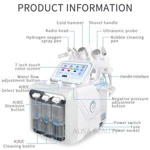 Image 2 - 6 In 1 H2O2 Water Oxygen Jet Peel Hydra Beauty skin Cleansing Hydro Dermabrasion Hydra facial Machine Water Aqua Peeling