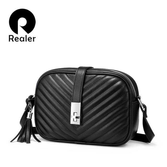 Mais real feminina bolsa de ombro sacos para as mulheres 2020 listrado aleta crossbody sacos feminino pequeno preto quadrado saco de couro do plutônio com borla