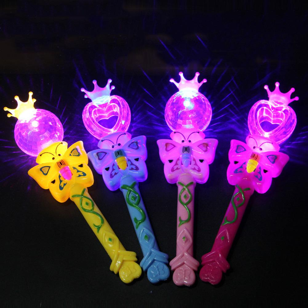 1 PC Kdis Cartoon Butterfly LED Luminous Stick Wand Kids Toy For Party Supplies Props