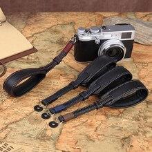 Bracelet de poignet en cuir véritable pour appareil photo, fait à la main, Double face, épais, Original, pour Sony Leica Fuji Olympus Pentax Panasonic