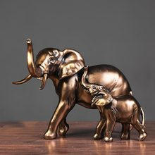Manufacturers One Hand Resin Gold Copper American and American Retro Mother Elephant Ornaments Interior Decoration Wine Cabinet
