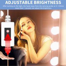 Светодиодная лампа для зеркала с регулируемой яркостью и датчиком