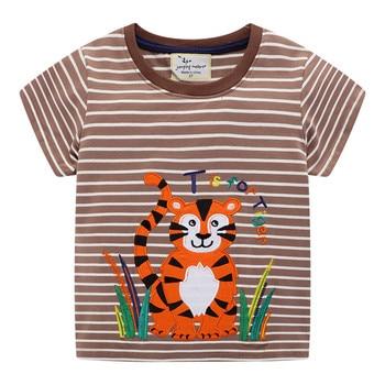 Crabs / Tiger / Crocodile Printed Cotton Baby's T-Shirt 6