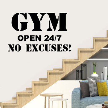 Hot Sale Gym Decal Frase Wall Stickers For Gym Fitness Room Motivation Wall Art Decals Sticker Vinyl Mural pegatina Pared gym