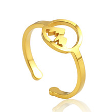 Woman Stainless Steel Rings Gold Silver Rose gold Inspired Mountain Round Hollow Adjustable Minimalist Ring