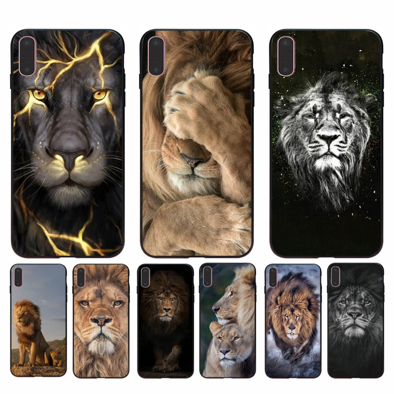 For iphone 11 Lion Alpha Male Lovely Design Phone Accessories Case for iPhone 8 7 6 6S Plus 5 5S SE XR X XS MAX Coque Shell