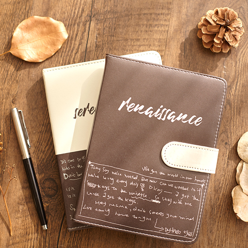 Notebook Office Business Student Notepad Agenda Planner Organizer PU Hand Book School Stationery Writing Supplies For Boys Girls