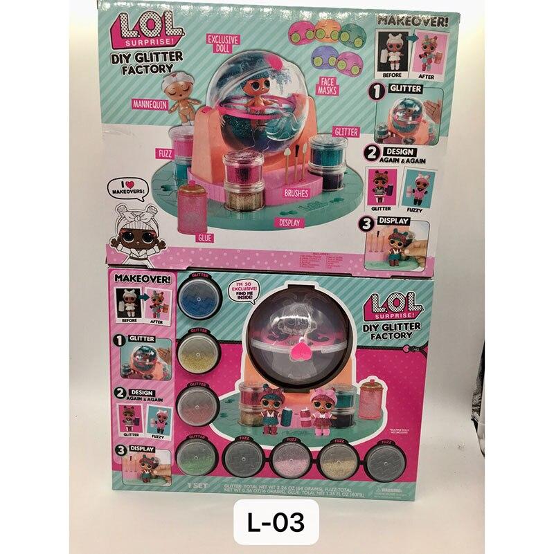 LOL poupées Original lol surprise poupées lols bricolage usine de paillettes lol surprise bébé poupée Capsule fille jouet cadeaux d'anniversaire avec boîte - 3