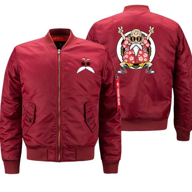 Dragon Ball Z homme Bomber militaire veste 2019 hiver décontracté Hip Hop Outwear hommes drôle personnalisé hommes sport vestes rouge manteau