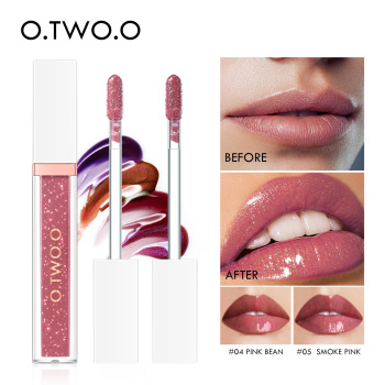 O.TWO.O Mirror Glass Lip Gloss Moisturizing Light Gel No Sticky Shimmer Lipstick Liquid Makeup 7 Color Lipgloss maquiagem
