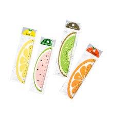 Cute Kids Cartoon Measure Length 15cm Fruit Shape Sleek 1pc for School Office Stationery Drawing Print Test Tool Students Rulers