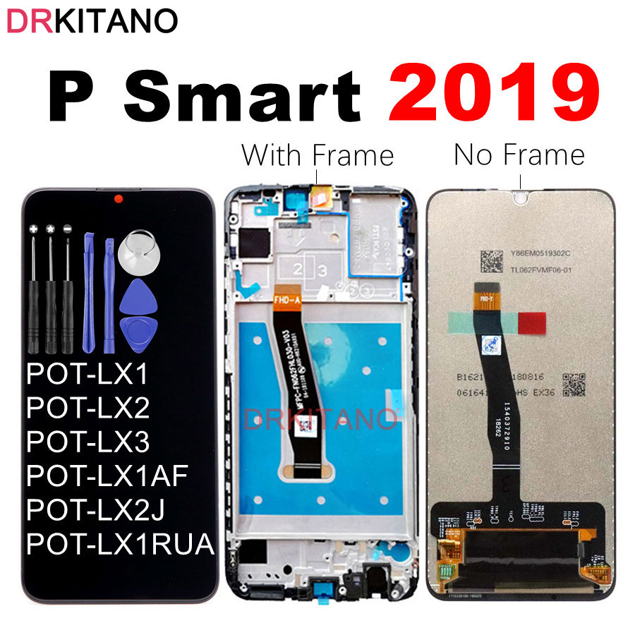 LCD Huawei Touch-Screen Smart Digitizer Display Original for POT Lx1/Lx1af/Lx2j/..