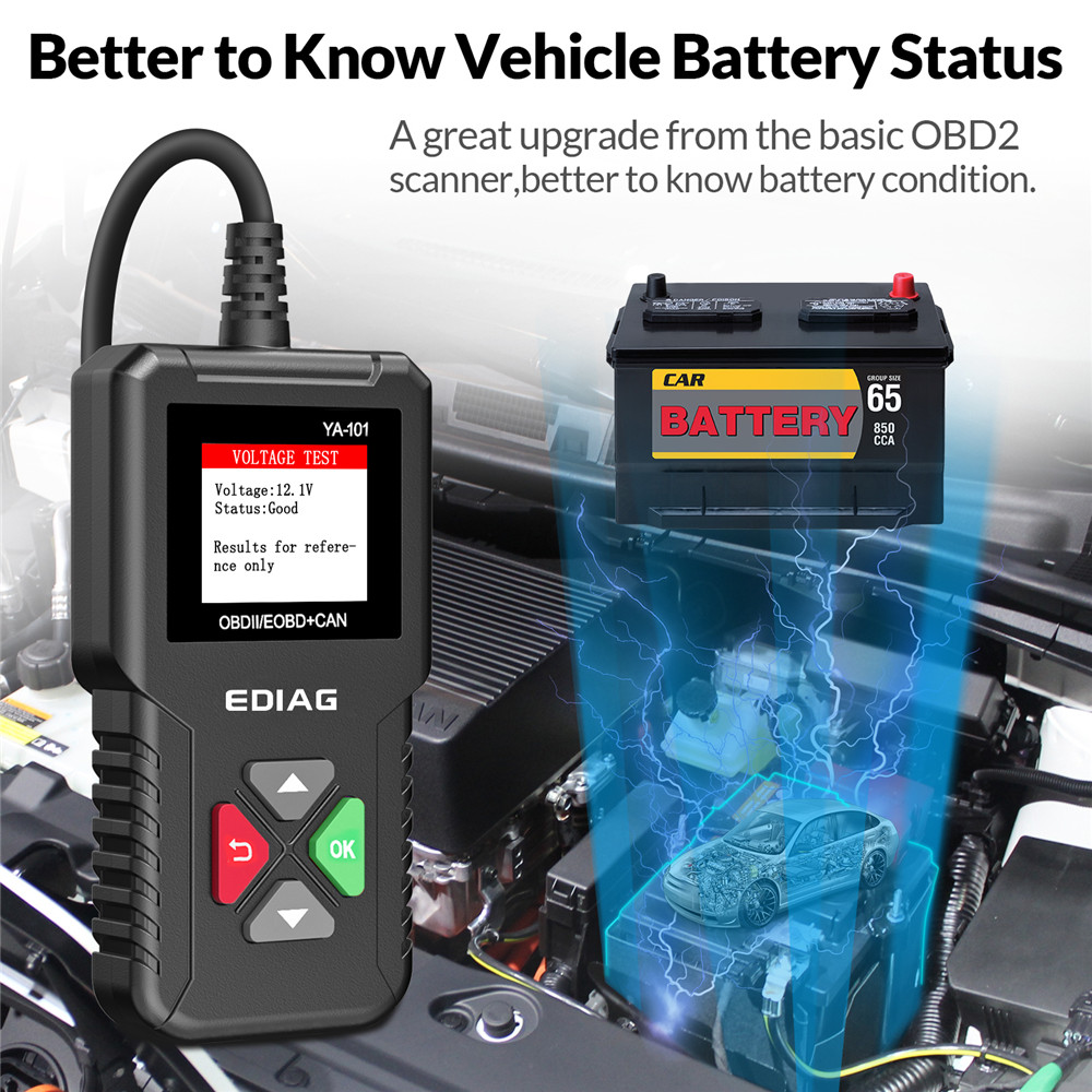 Original EDIAG YA101 Automotive OBD2 Scanner OBD II/EOBD Auto Code Reader Auto Diagnose Werkzeug PK CR3001 CR319 AD310 OM123