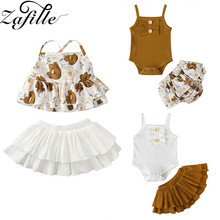 ZAFILLE Newborn Baby Girl Clothes Summer Toddler Suits 2Pcs Top+Skirt Outfits Sets Printed Girls Clothes Infant Kids Clothes zafille girls clothing 2pcs lace top leopard skirt baby girl clothes long sleeve toddler outfits sets kids clothes baby clothing