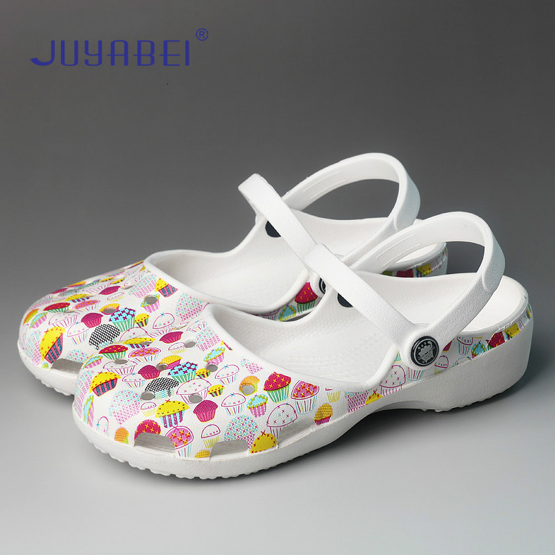 Print Non-slip Nurse Shoes Unisex Surgical Slippers Hospital Lab Beauty Salon Dental Clinic Pharmacy Adjustable Medical Shoes