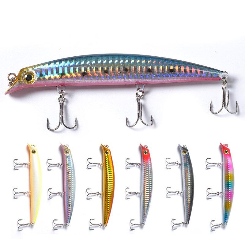 1pc Popper Fishing Lure 12cm 15g Isca Artificial Hard Bait 3D Eyes Treble Hook Floating Wobblers Minnow Crankbait Pesca Tackle