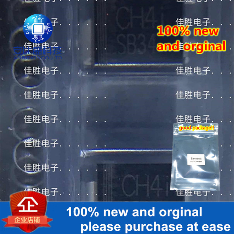 50pcs 100% New And Orginal  SB34 3A40V DO214AA Low Pressure Drop Schottky In Stock