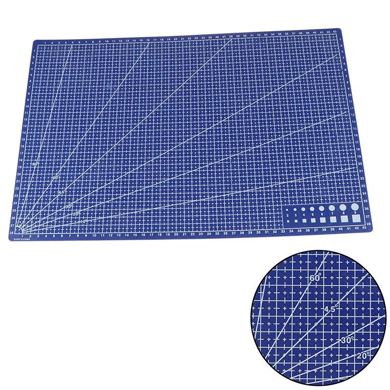 1 Uds gran oferta A3 Pvc Rectangular estera de corte de línea de plástico herramienta 45cm x 30cm A3 placa de corte