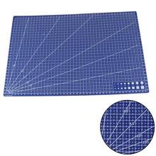 1 pçs venda quente a3 pvc retangular esteira de corte grade linha ferramenta plástico 45cm x 30cm a3 placa de corte