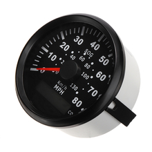 1pc 85mm Motorcycle GPS Speedometer Odometer Receiver For Truck Boat Car Digital Speedometer 12V 24V Waterproof IP67 цена