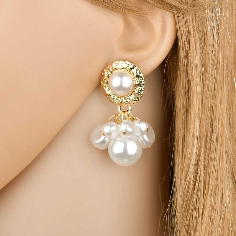 Yobest Natural Long Baroque Pearl Earrings For Women 8-9mm White Gray Handmade Silver Gold color Jewelry Party Gift