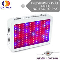 France Warehouse drop shipping Qkwin 1000W LED Grow Light with 100pcs double chip 10W Full Spectrum LED Grow Light